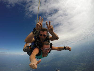 can you breathe while skydiving