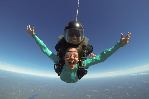Girls Skydiving Images